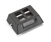 GigaStation2  Modular Furniture Wallplate - 4-Port, Black