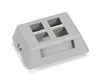 GigaStation2  Modular Furniture Wallplate - 4-Port, Gray