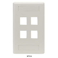Wallplate Plastic Single-Gang 12-Port Keystone Office White