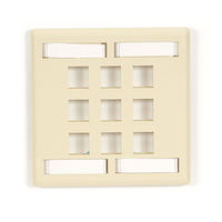 GigaStation2  Keystone Wallplate - Double-Gang, 9-Port, Ivory