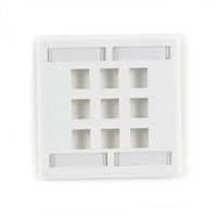 GigaStation2  Keystone Wallplate - Double-Gang, 9-Port, White