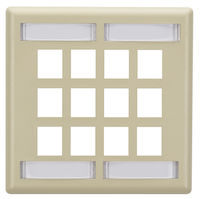 Wallplate Plastic Double-Gang 12-Port Keystone Ivory