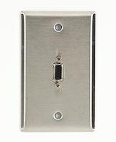 AV Wallplate - Stainless Steel, (1) VGA Female to Female