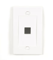 Wallplate Plastic Single-Gang 1-Port Keystone White