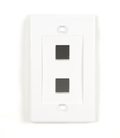 Wallplate Plastic Single-Gang 2-Port Keystone White